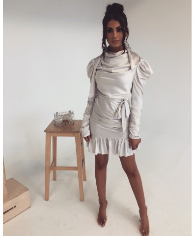 The LUXE LIFE Satin Dress