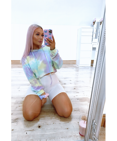 The LET'S LOUNGE Cropped Hoodie